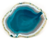 Agate slice of 314 grams, size: 180 x 140 x 6 mm.