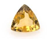 Lot of trilliant-cut natural citrine quartz, weight: 1.30 ct.