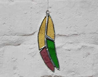 Feather Stained Glass Suncatcher - Window Hanging Decoration - Home decoration