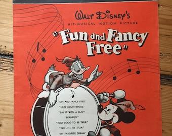 "Fun And Fancy Free - Walt Disney - ""Lazy Countryside"" sheet music"