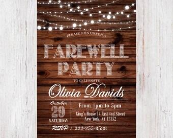 farewell party invitation farewell invite farewell party