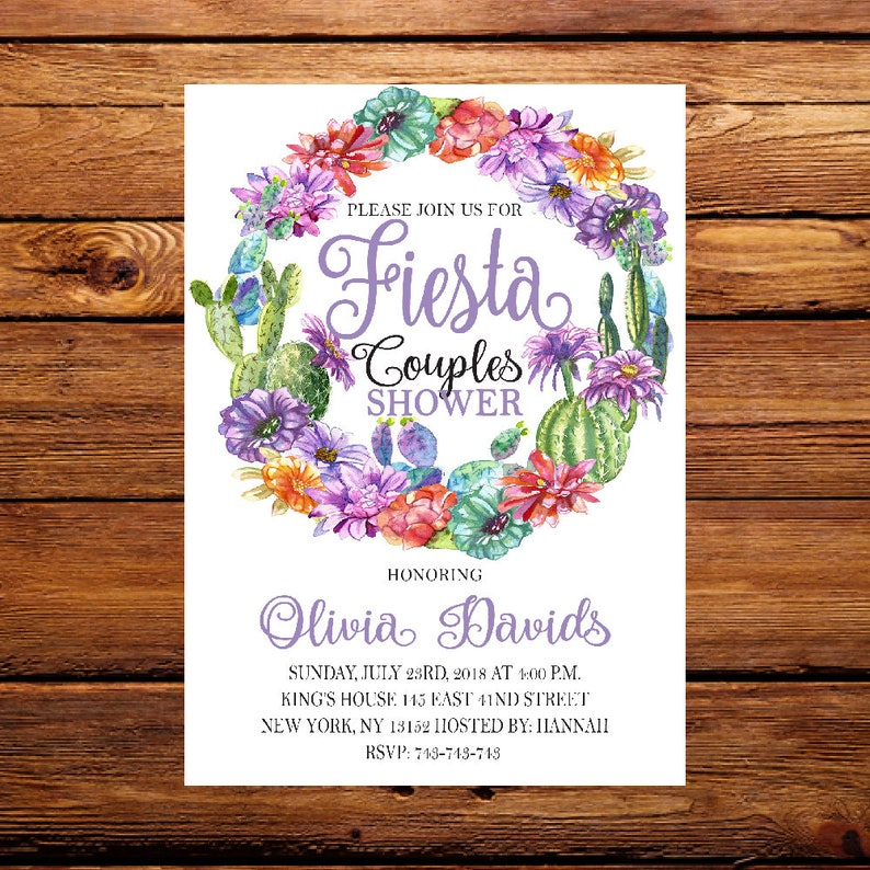EngagementMexican Invitation Souple Fiesta Nacho InvitationSactus Average Couple Shower 75 VMSUzpq