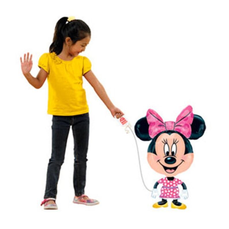 Disney trip balloons Kids birthday balloons Minnie mouse balloons Minnie birthday 30/'/' Disney Minnie Mouse Licensed Airwalker Balloon