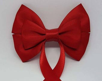 Ruby Red Swallow Tail Hair Bow
