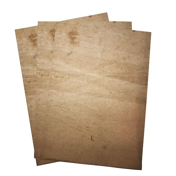 100 sheets double sided A4 ANTIQUE VINTAGE EFFECT plain paper