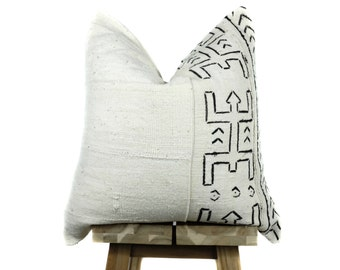 Mudcloth Pillow Cover, Stitched Select Collection,  African Mud Cloth | 'Orion'