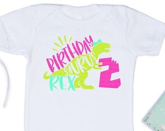 Birthday svg, Girl Two Rex Svg, Birthday Svgs, Girls T-Rex Svg, Dinosaur Birthday Svg, birthday svg design, birthday cut files, cricut svg