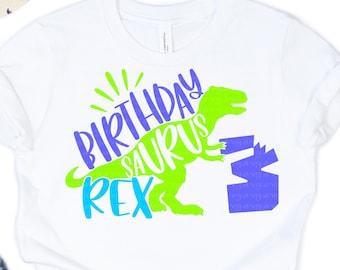 Birthday svg, Boy Three Rex Svg, Birthday Svgs, Boys T-Rex Svg, Dinosaur Birthday Svg, birthday svg design, birthday cut files, cricut svg