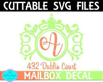 Regal Mailbox Frame SVG,Ornament Clip Art,Monogram Frame,Mailbox Decal,Mail Box Decal,Cricut Designs,Silhouette Designs