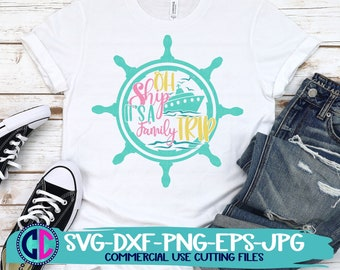 Summer Svg, Oh Ship Its a Family Trip svg, vacation svg, beach svg, summertime svg, Summer svg design, Summer cut file, Summer cricut