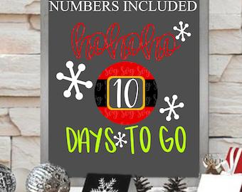 ho ho ho days to go svg, Christmas countdown svg,Christmas svg,Christmas svg designs, Christmas cut file, svg for cricut,svg for mobile