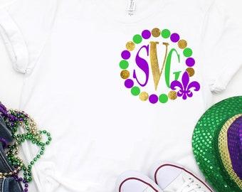 mardi gras monogram svg,mardi gras tshirt,Monogram Beads svg,mardis gras svg,Mardi Gras Svg Designs, Mardi Gras Cut File, cricut svg