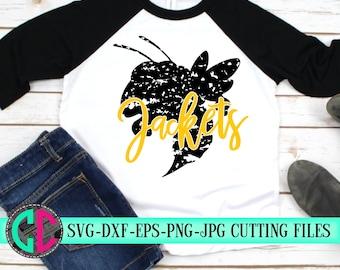 Jackets SVG, grunge svg, Yellow Jackets svg,football yellow jackets,high school football svg,Sports Svg Designs, Sports Cut File, cricut svg