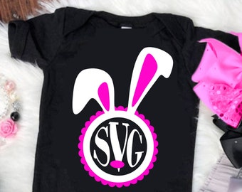 Easter Svg, Easter Bunny Face svg, Easter svg, Bunny Monogram svg, bunny svg, girl bunny, Easter Svg Designs, Easter Cut File, cricut svg