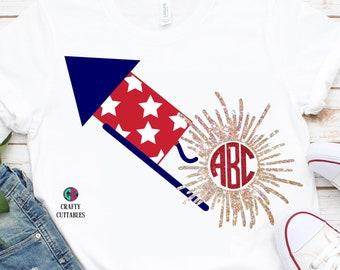 firecracker monogram svg,july forth svg,Firework,monogram firecracker svg,4th of July, America,Patriotic,svg for cricut,Independence day svg
