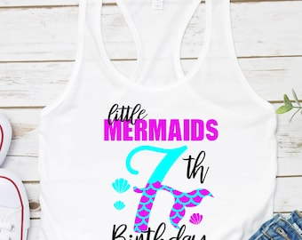 My 7th Birthday Mermaid Svg, Eps, Png,Clipart, Cut File, Mermaid Birthday Svg, Mermaid Girl Svg, svg for Cricut, Mermaid Vibes, Birthday Svg