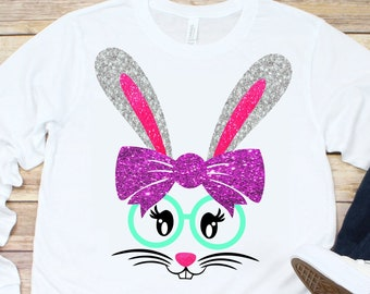 Nerd Bunny svg,Bunny svg,Glasses svg,Nerd svg,Easter Bunny svg,Easter Tshirt,Easter Svg Designs, Easter Cut File, cricut svg