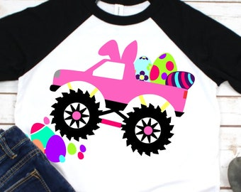Easter Monster Truck,Monster Truck Shirt,Svg Monster Truck,Girls Monster Truck,Easter Svg Designs, Easter Cut File, cricut svg