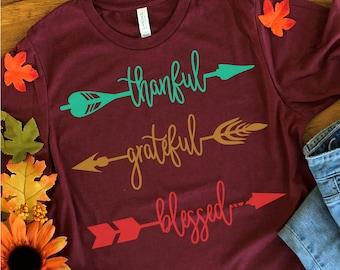 Thankful,Grateful,Blessed Arrow svg,Grateful svg,Thanksgiving SVG,Thanksgiving,Holiday,Arrow svg,Cricut Designs,Silhouette Designs