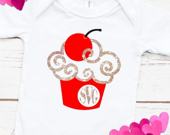 Cupcake SVG,cupcake monogram, mongram cupcake,Tshirt svg,cupcakes, cupcake svg,Monogram Svg Designs, Monogram Cut File, cricut svg