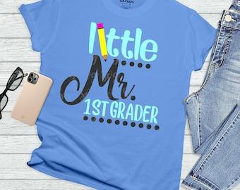 mr first grader svg, little mr 1st svg, school svg, back to school svg, tshirt, teacher,svg for cricut,silhouette cut file