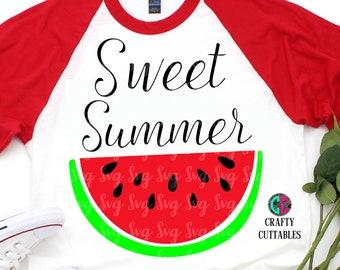 Sweet Summer svg,Summertime svg,summer svg,girl svg,preppy svg,watermelon svg,Cricut Designs,Silhouette Designs,watermelon clipart