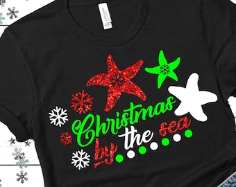 Christmas By The Sea svg,Beach svg,Beach Christmas svgs,Holiday svg,Christmas svg design, Christmas cut file, svg for cricut,svg for mobile