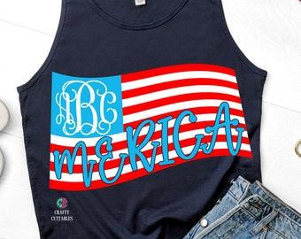 monogram flag svg,american flag svg,USA flag svg,flag monogram,american flag decal,svg for cricut,american flag,merica svg,monogram svg