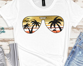 Palm Tree svg, Sunset svg, Aviator Sunglasses svg, ISummer svg, png,dxf,Vacation svg,Summer Svg Designs, Summer Cut File, cricut svg