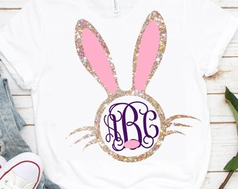 Monogram Bunny Face svg,Easter bunny svg,Bunny Monogram svg,Bunny svg,girls bunny,Easter shirt,Easter dxf,Monogram bunny,Rabbit monogram