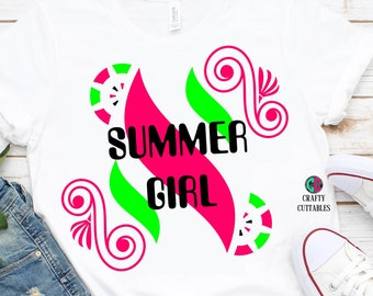 Summer Girl svg,Summertime svg,summer svg,girl svg,preppy svg,sunshine svg,Cricut Designs,Silhouette Designs,watermelon svg