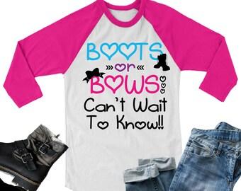 Gender Reveal svg,Boots or Bows svg,Gender Reveal svg,Baby Reveal Tshirts,Baby Reveal svg,Baby Shower Tshirt,Cricut Design,Silhouette Design