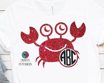 crab monogram svg,beach monogram svg,crab monogram,crab svg,monogram beach svg,lobster monogram svg,Cricut Designs,Silhouette Designs