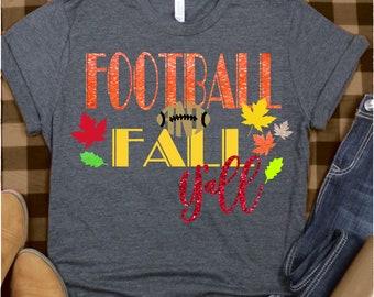 football and fall yall svg, football svg, fall svg, autumn svg, svg cut files, cricut svg, Sports Svg Designs, Sports Cut File, cricut svg