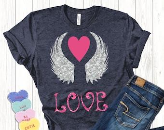 Love Wings svg,Valentine svg,Cupid svg,Valentines Heart svg,Valentine Tshirt,Heart svg,Hearts svg,Valentine,Cricut Designs,Silhouette Design