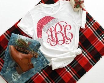 Santa Hat,Santa Hat svg,Santa Monogram,Santa Hat svg,Santa Hat Monogram,Christmas,Christmas svg,Cricut Designs,Silhouette Design