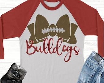 bulldogs football bow svg,Football svg,bulldogs football, bulldogs, bulldogs svg,Sports Svg Designs, Sports Cut File, cricut svg