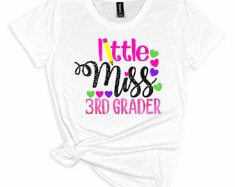 3rd grader svg, little miss 3rd grader svg, school svg, back to school svg, tshirt, teacher,svg for cricut,silhouette cut file