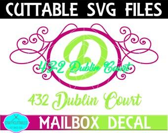Oval Mailbox Monogram Frame SVG,Ornament Clip Art,Monogram Frame,Mailbox Decal,Mail Box Decal,Cricut Designs,Silhouette Designs