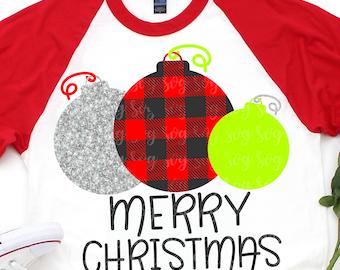 tree ornaments svg, Plaid svg,merry christmas svg, christmas svg,ornament svg, dxf,svg for Cricut Designs,Silhouette Design