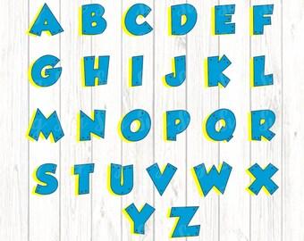 Paw Patrol Alphabet SVG,Paw Patrol svg, Paw Patrol Alphabet, Paw Patrol Zuma svg, Paw Patrol Numbers, Cricut Designs,Silhouette Designs
