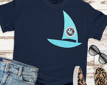 Sailboat svg monogram,Circle Monogram svg,preppy svg, Sailing svg, Sailboat svgs, Monogram Svg Designs, Monogram Cut File, cricut svg