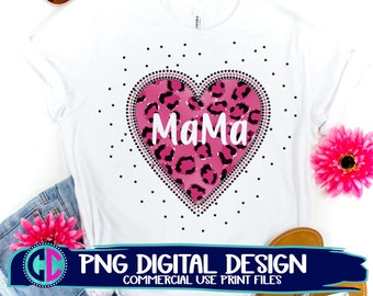mama heart png, glitter heart png, sublimation png, print png, retro heart sublimation png, vintage sublimation file, heart sublimation