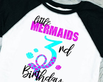 My 3rd Birthday Mermaid Svg, Eps, Png,Clipart, Cut File, Mermaid Birthday Svg, Mermaid Girl Svg, svg for Cricut, Mermaid Vibes, Birthday Svg