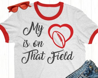 My Heart Is On That Field Football SVG,Football decals, Football Sayings, Sports Svg Designs, Sports Cut File, cricut svg