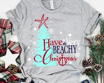 have a very beachy christmas svg,beach svg,beachmas svg,Svg,cut file,Christmas svg,merry christmas svg,eps,dxf,svg for cricut,silhouette dxf