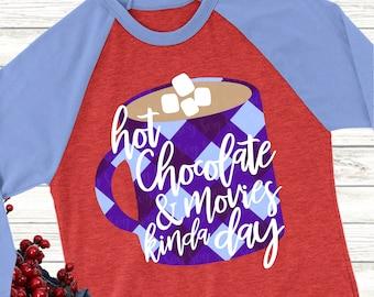 Hot chocolate svg, Christmas svg, plaid svg, svg, dxf, eps, Christmas coffee svg, hot chocolate svg, movies svg, svg for cricut, coffee cup