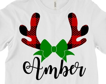 Plaid Deer Antlers svg,Deer Antlers svg,Plaid Deer svg,Christmas svg,Christmas svg design, Christmas cut file, svg for cricut,svg for mobile