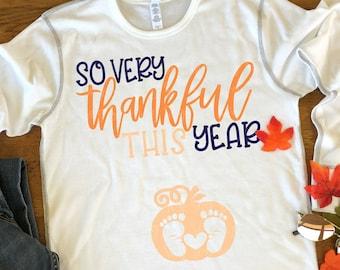 Super Thankful svg, pregnant svg, Thanksgiving svg, Maternity svg, Pregnancy Saying, Pumpkin svg, baby svg, holiday svg, baby feet svg