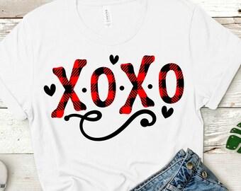 Buffalo Plaid XOXO svg,Valentine svg,XOXO svg,Valentine Heart svg,Valentine Tshirt,Plaid svg,Valentine XOXO,Cricut Design,Silhouette Design